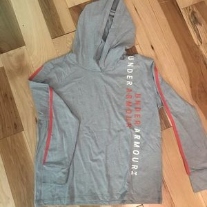 Under Armour long sleeved hooded Tee